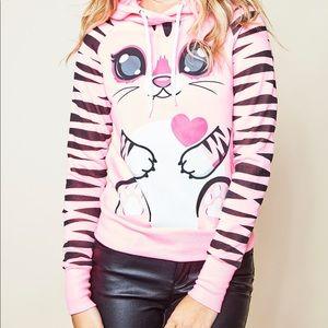 Pink Cute animal character hoodie